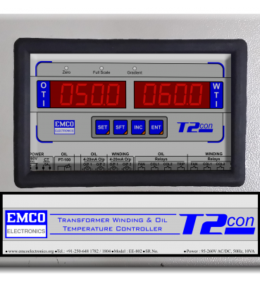 EE-802 :: Oil and Winding Temp. Controller