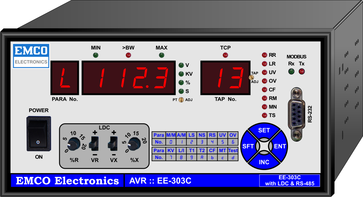EE-303C (AVR with IEC-61850 or MODBUS protocol)